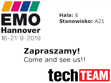Metal Team invites you to stand A21 in hall 6 - EMO HANOVER - 16-21.09.2019